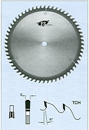 "FS Tool L41250<br>250mm x 5/8"", Hollow Face Saw Blades, TCH, 60 Teeth"
