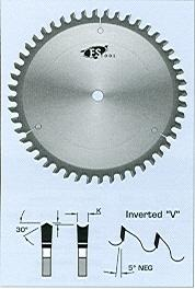 "FS Tool L42300<br>300mm x 1"", Hollow Face Saw Blades, Hollow Ground, 60 Teeth"