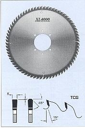 FS Tool L5252072-60<br>520mm x 60mm, XL4000 Panel Sizing Saw Blades, TCG, 72 Teeth
