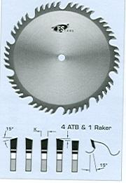 "FS Tool L55180<br>7"" x 5/8"", Combination Saw Blades, ATB, 40 Teeth"