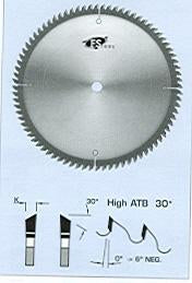 "FS Tool LM6301<br>12"" x 1"", Chip-Free Melamine Trim Blades, High ATB (30°), 100 Teeth"