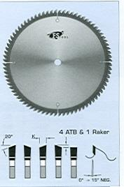 "FS Tool LM6216<br>8-1/2"" x 5/8"", Mitre Joint Saw Blades, ATB, 48 Teeth"