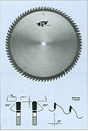 "FS Tool LNM200<br>8"" x 5/8"", Non-Melt Saw Blades, TC2, 60 Teeth"