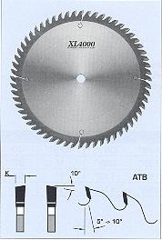 "FS Tool S04400<br>16"" x 1"", XL4000 Standard Cross Cut Saw Blades, ATB, 100 Teeth"