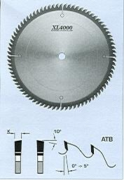 "FS Tool S06200<br>8"" x 5/8"", XL4000 Fine Cross Cut Saw Blades, ATB, 60 Teeth"