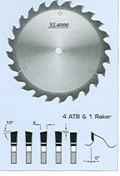 "FS Tool S07250<br>10"" x 5/8"", XL4000 Radial Arm Saw Blades, ATB, 24 Teeth"