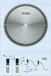 FS Tool S10220-H<br>220mm x 30mm, XL4000 Fine Cross Cut Saw Blades, TCG, 64 Teeth