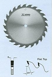 "FS Tool S18300<br>12"" x 1"", XL4000 Heavy Duty Rip Saw Blades, Flat Top, 24 Teeth"
