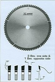 "FS Tool S4D250-LH<br>10"" x 5/8"", XL4000 Double Cut off Saw Blades, 3 Beveled One Side And 1 Beveled Opposite Side, 60 Teeth"