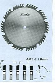 "FS Tool S55225<br>9"" x 5/8"", XL4000 Combination/Planer Saw Blades, ATB, 40 Teeth"