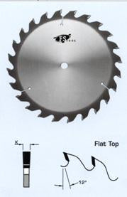 "FS Tool 5G8014<br>8"" x 5/8"", Grooving Saw Blades, 24 Teeth"