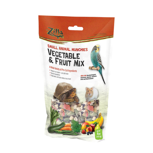 Ideal for bearded dragons, uromastyx, iguanas, tortoises, as well as birds and other small animals. The natural ingredients are ideal for feeding alone, in addition to leafy greens, pellet diets or as a treat. The many varieties allow you to choose one or more that best suit your animal!