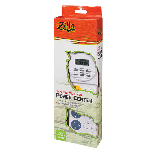 24/7 Digital Timer allows for daily programming with on/off outlets as well as constant power outlets 8 Total outlets – 4 daytime/nighttime alternating outlets and 4 constant power outlets