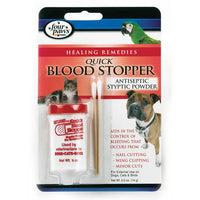 Four Paws Quick Blood Stopper is an antiseptic powder used by both veterinarians and breeders to aid in stopping blood when docking, cropping and/or nail cutting.