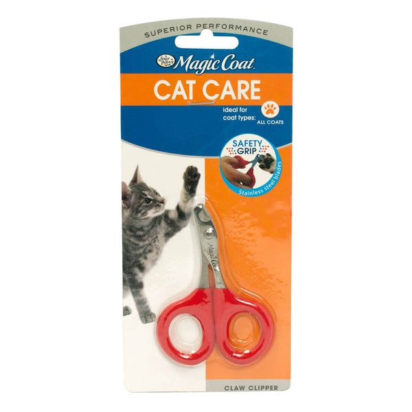 Recommended by professional groomers for safety and dependability, the Magic Coat Cat Claw Clipper is made from surgical stainless steel for quick, easy nail clipping.