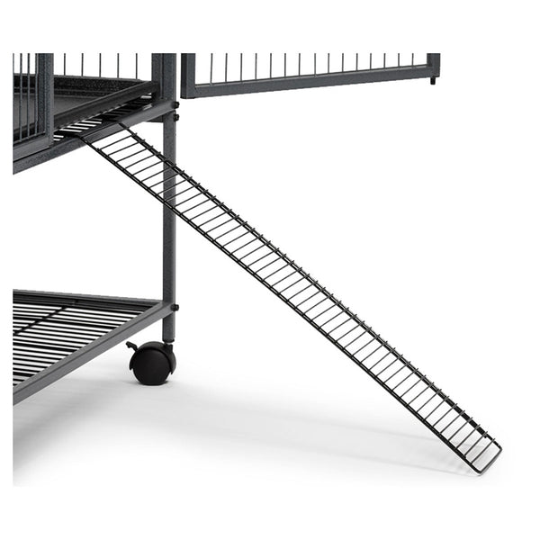 An exterior ramp that can be securely attached to your Ferret Nation cage Models 141 and 142