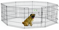 We love hex pens (exercise pens) for rabbits and guinea pigs as an alternative to conventional cages.  The ability to change the shape makes them easy to fit in your home and allow ample space to move around when the pet is confined.  They also have the added advantage of portability to take the animal outside for fresh air while keeping the animal safely confined.