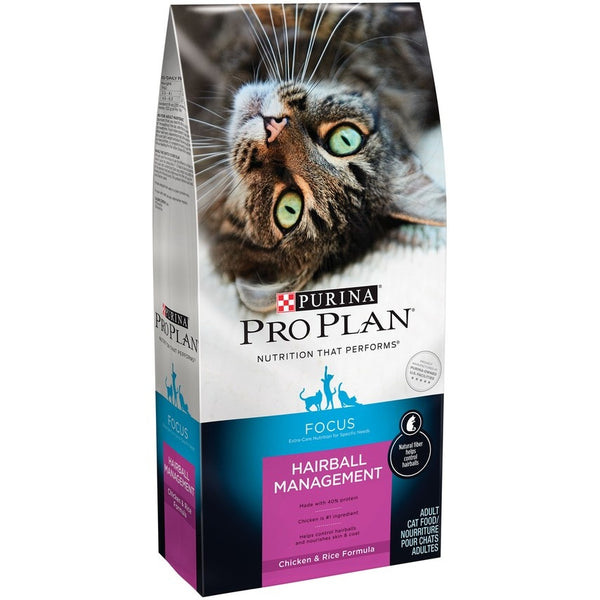 Purina Pro Plan Focus Adult Hairball Management Chicken & Rice Dry Cat Food