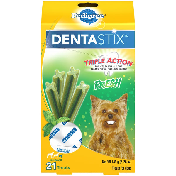 Pedigree Fresh Dentastix Dog Treats for Small and Toy Breeds