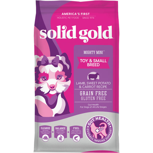 Solid Gold Mighty Mini Grain Free Toy & Small Breed Recipe with Lamb, Sweet Potato, & Cranberry Dry Dog Food