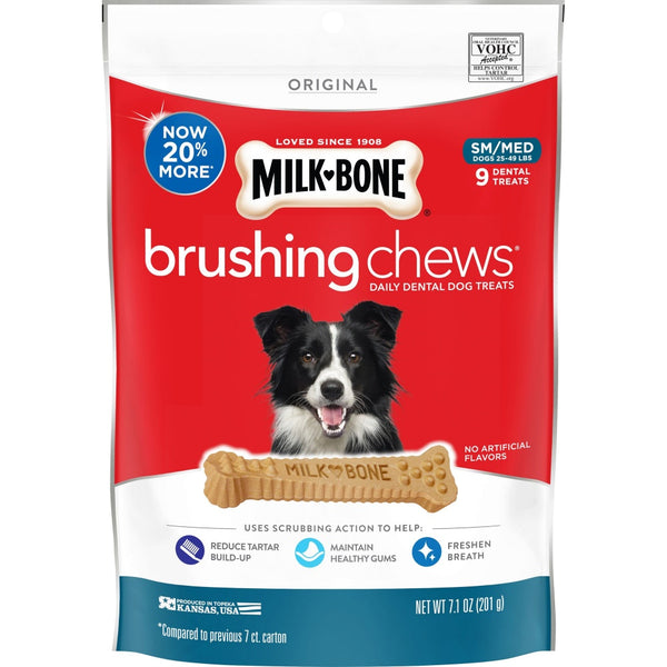 Milk-Bone Original Daily Dental Brushing Chews for Small & Medium Dogs