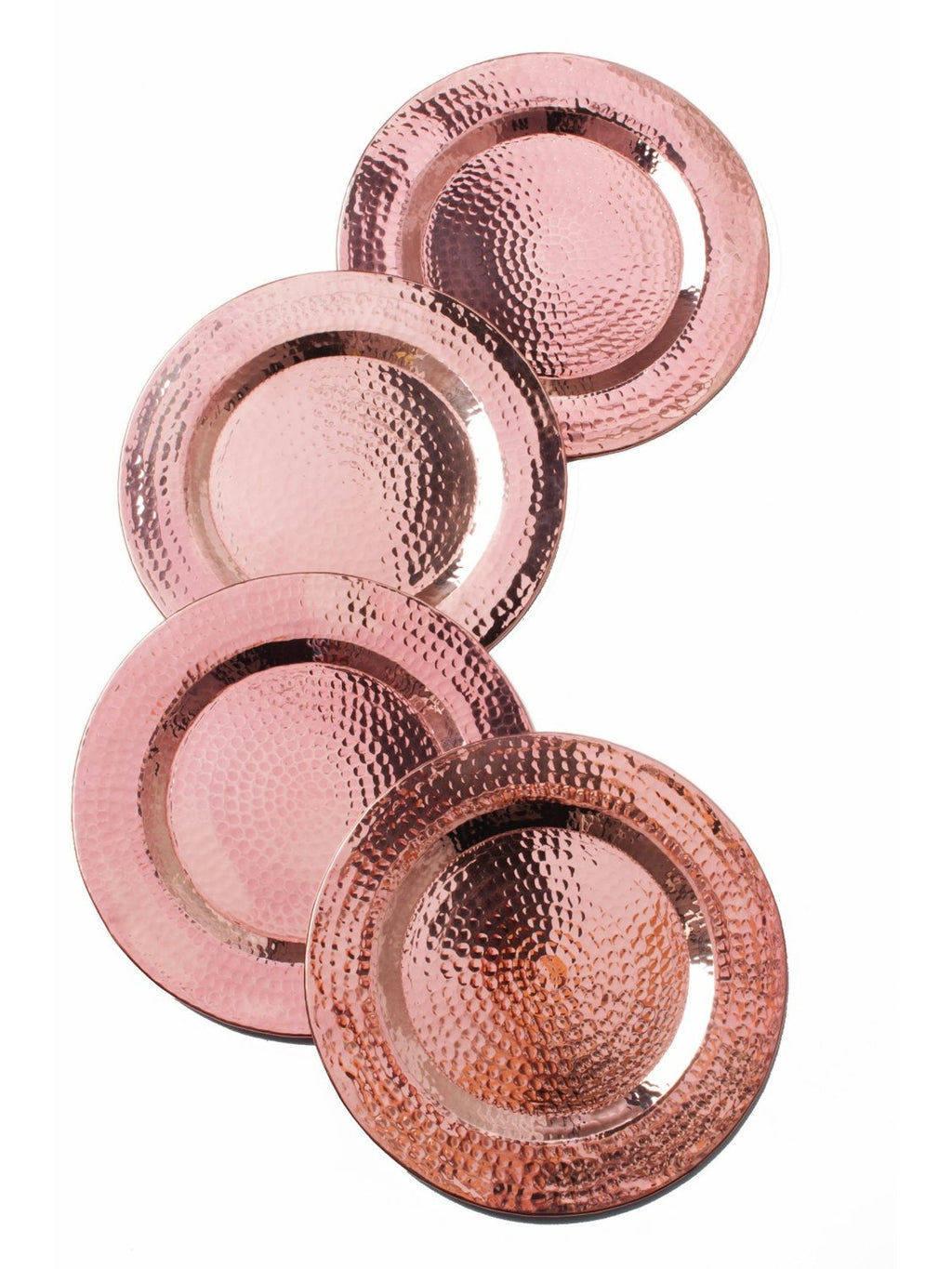 Copper Charger Plates - Set of 4 - SPECIAL ORDER