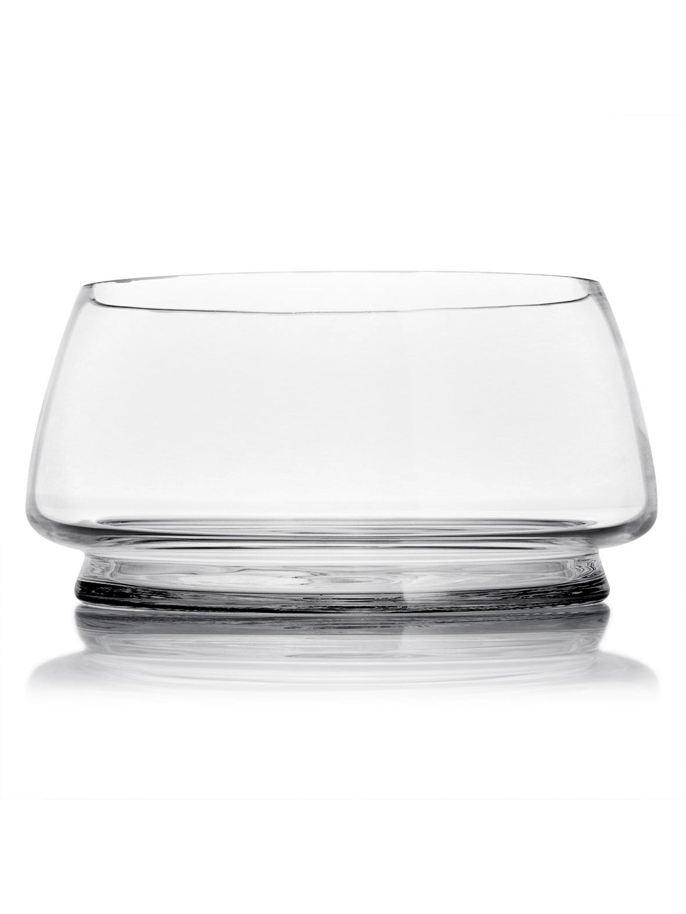 "Contemporary Glass Salad Bowl ""Baobab"""