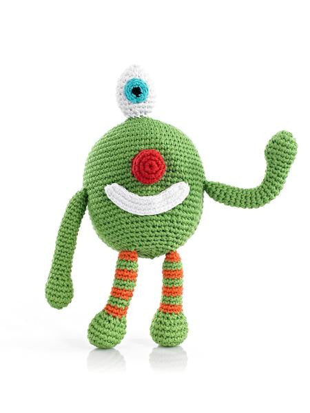 Cotton Hand Knit Monster Rattle