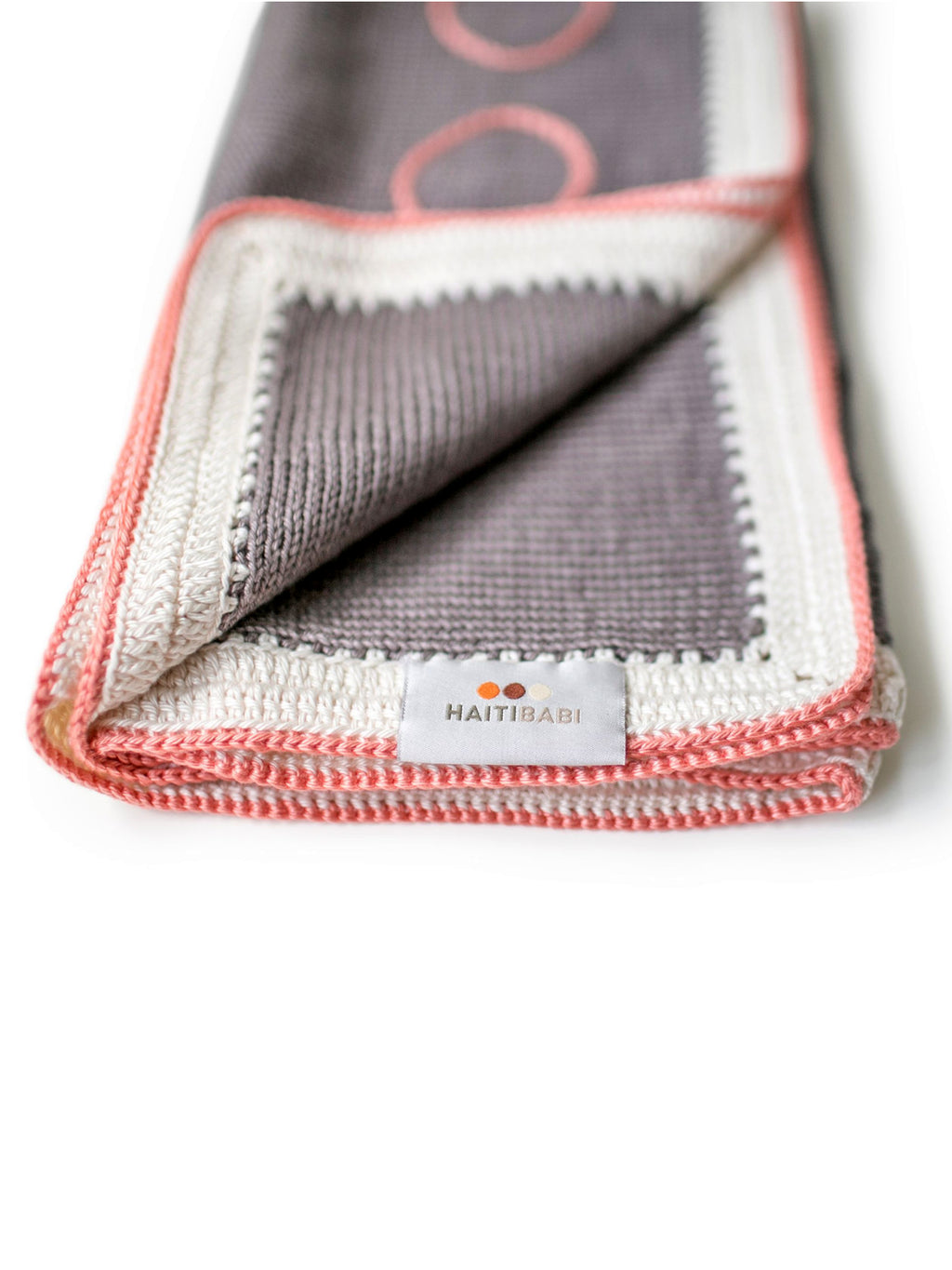 Hand-knit Pima Cotton Baby Blanket (Mauve)