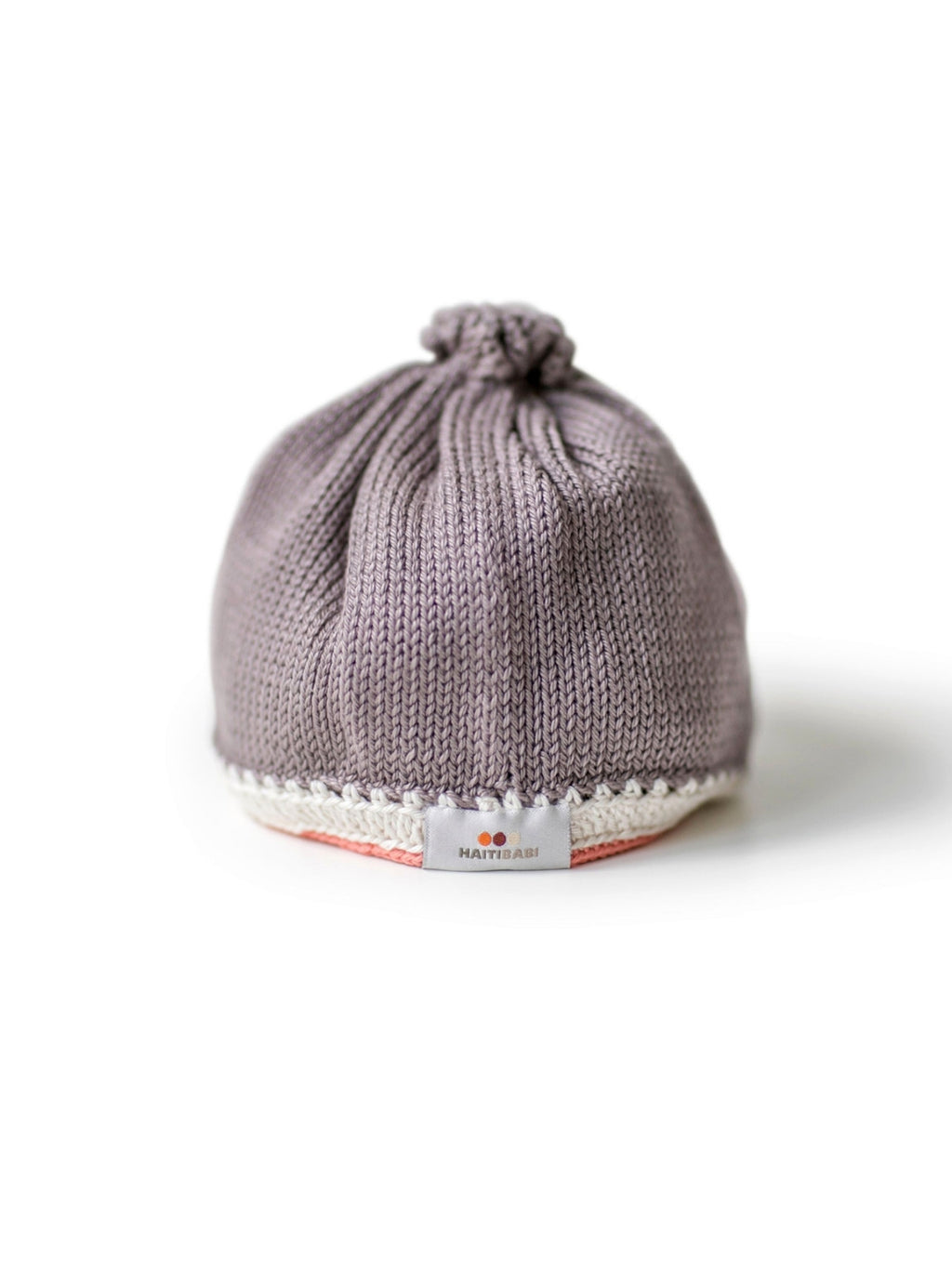 Hand-knit Pima Cotton Baby Hat (Mauve)