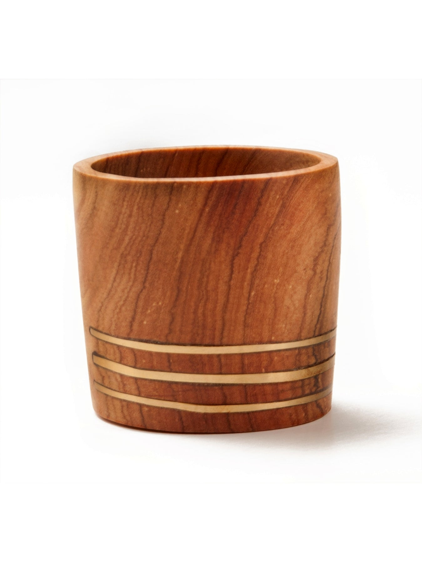 Small Brass Wooden Planter