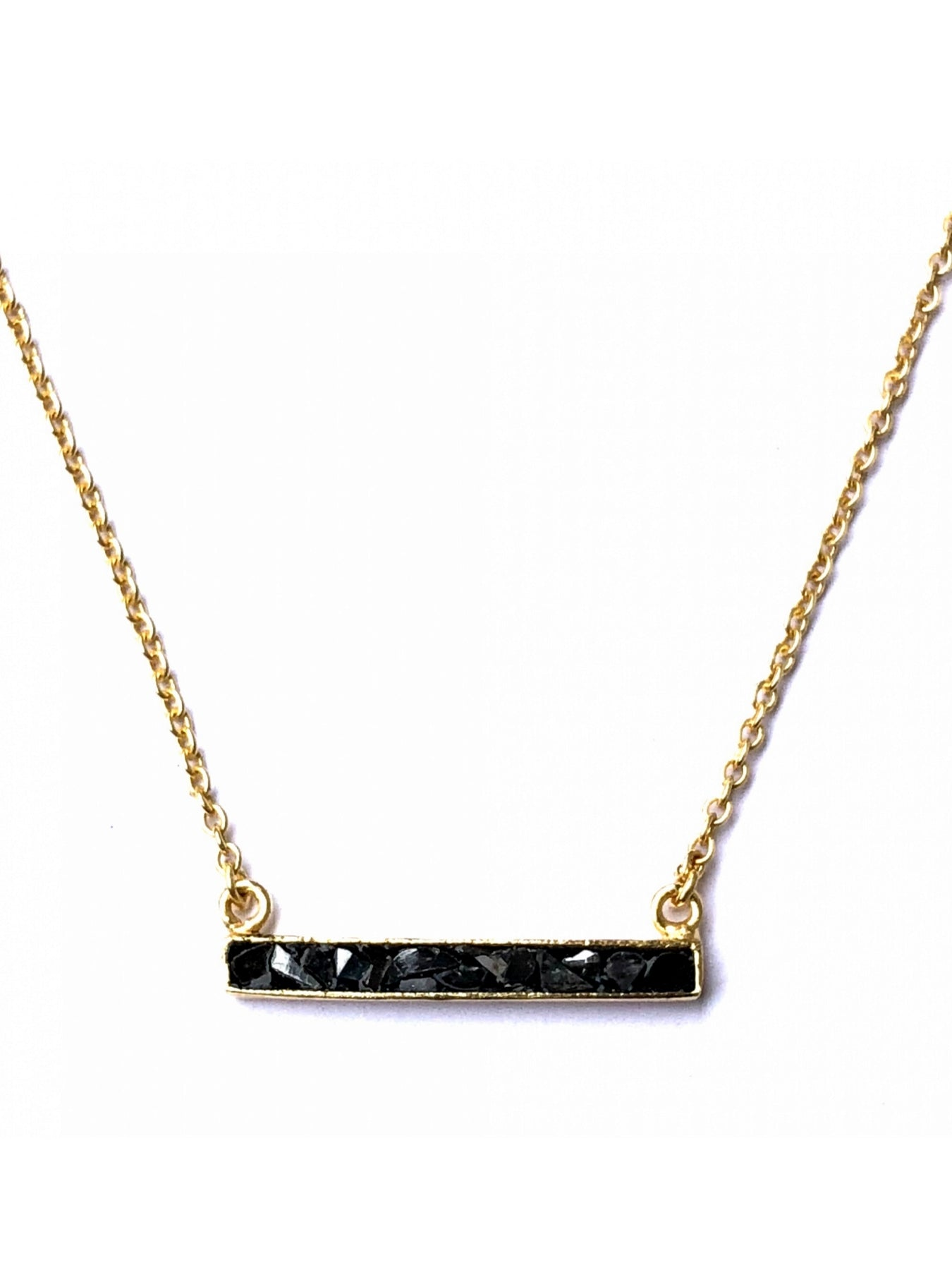 Diamond Deco Bar Necklace