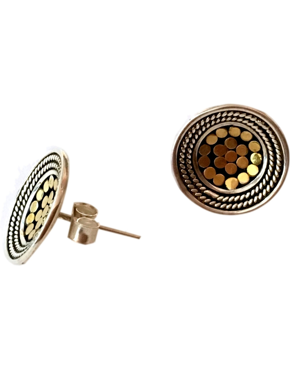 Be a Light Sterling & Gold Post Earrings