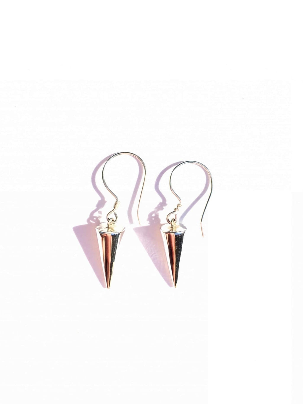 Sterling Silver Conical Shaped Earrings