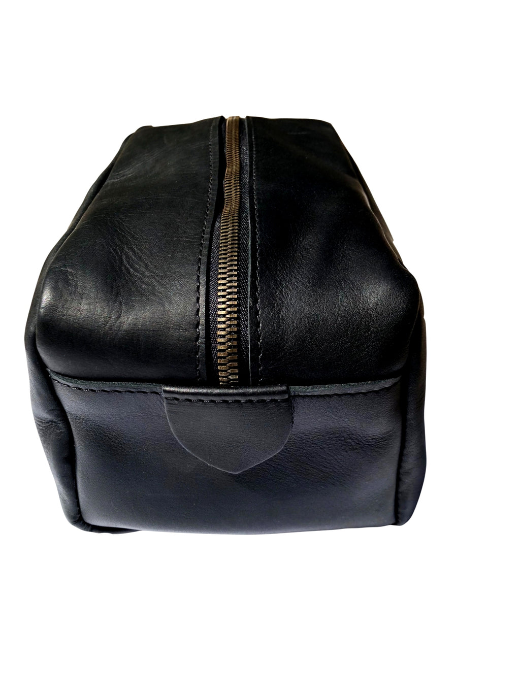 Leather Toiletry Dopp Kit - Black