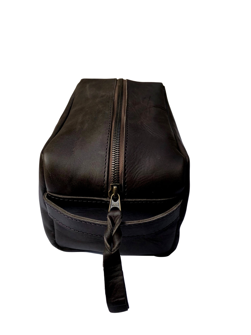 Leather Toiletry Dopp Kit - Mocha