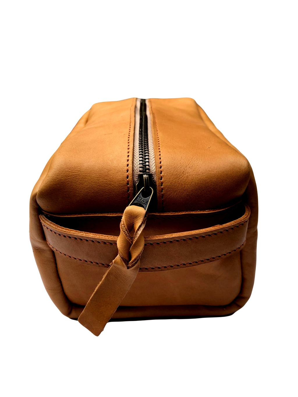 Leather Toiletry Dopp Kit - Tan