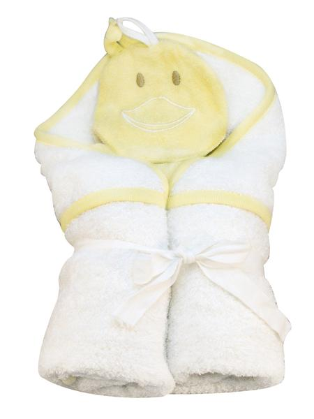 Organic Cotton Duck Hooded Towel & Wash Cloth Set