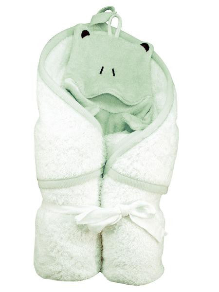 Organic Cotton Frog Hooded Towel & Wash Cloth Set