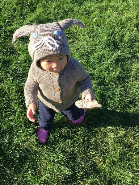 Organic Cotton Grey Bunny Sweater