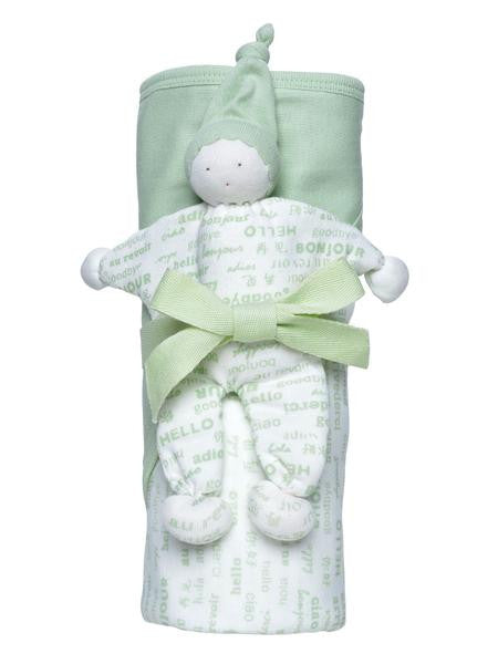 Organic Cotton Hooded Blanket Gift Set
