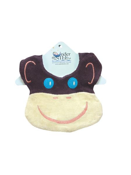 Organic Cotton Monkey Bib