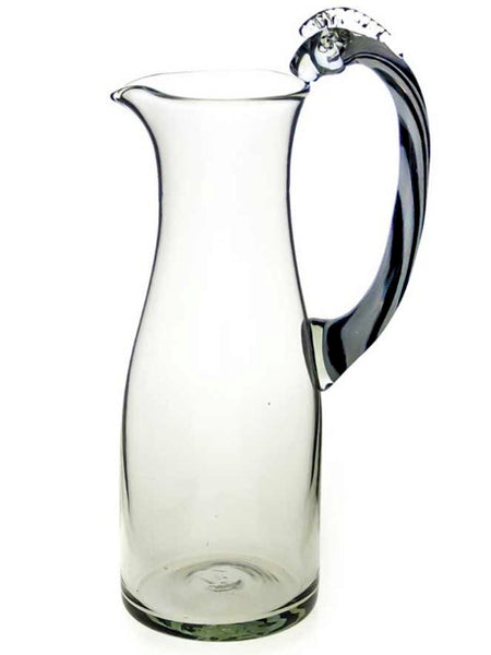 Recycled Glass Pitcher – Zebra Handle