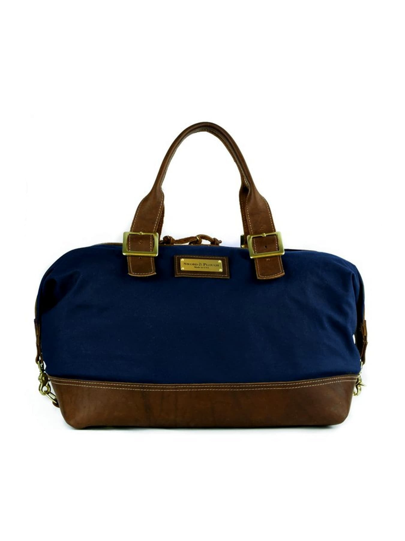 Blue Cotton Canvas Weekender Bag