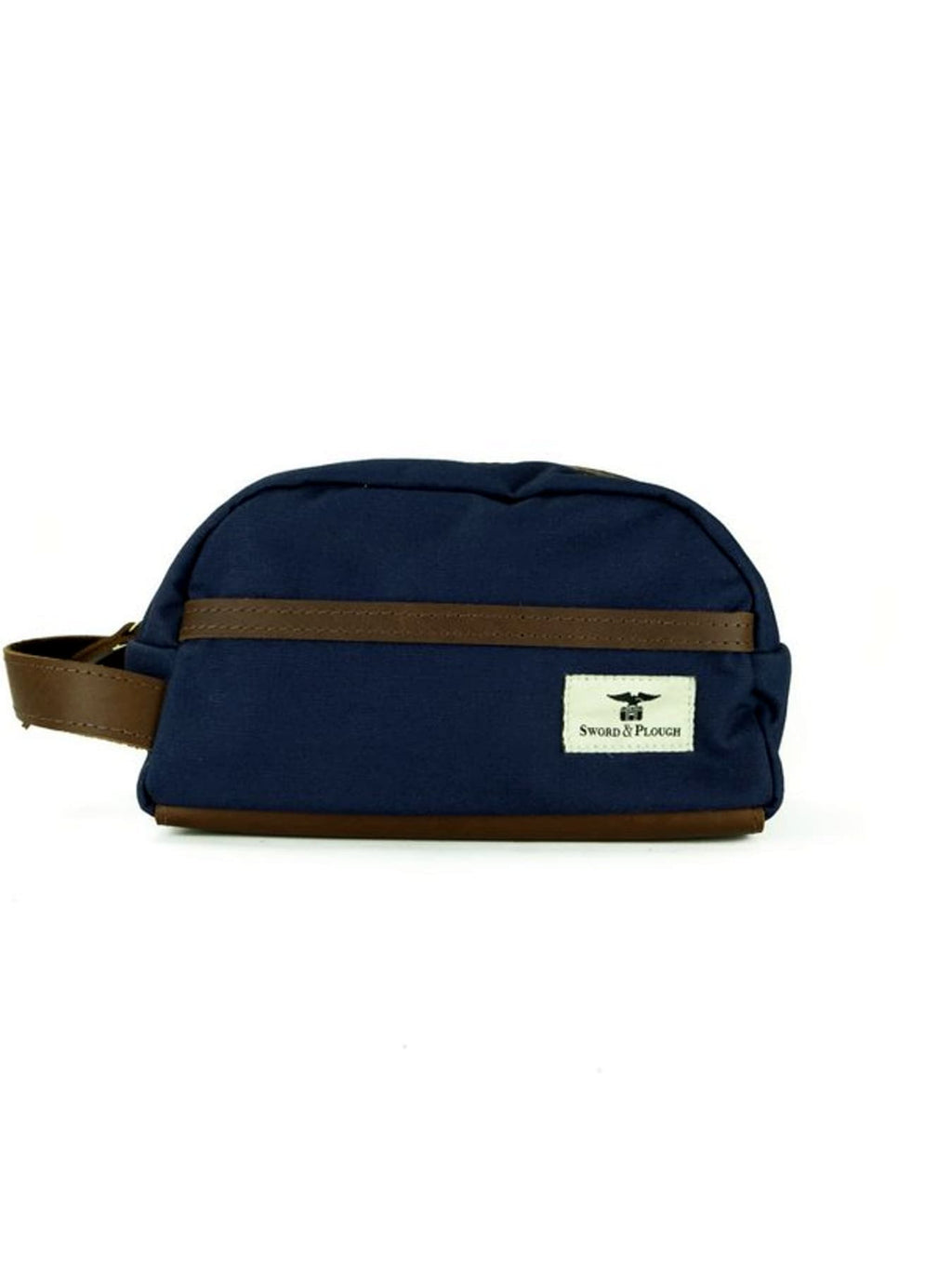 Blue Water Resistant Leather Travel Kit