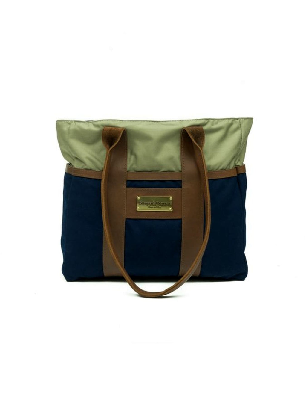 Blue Water Resistant Zip Top Tote Bag