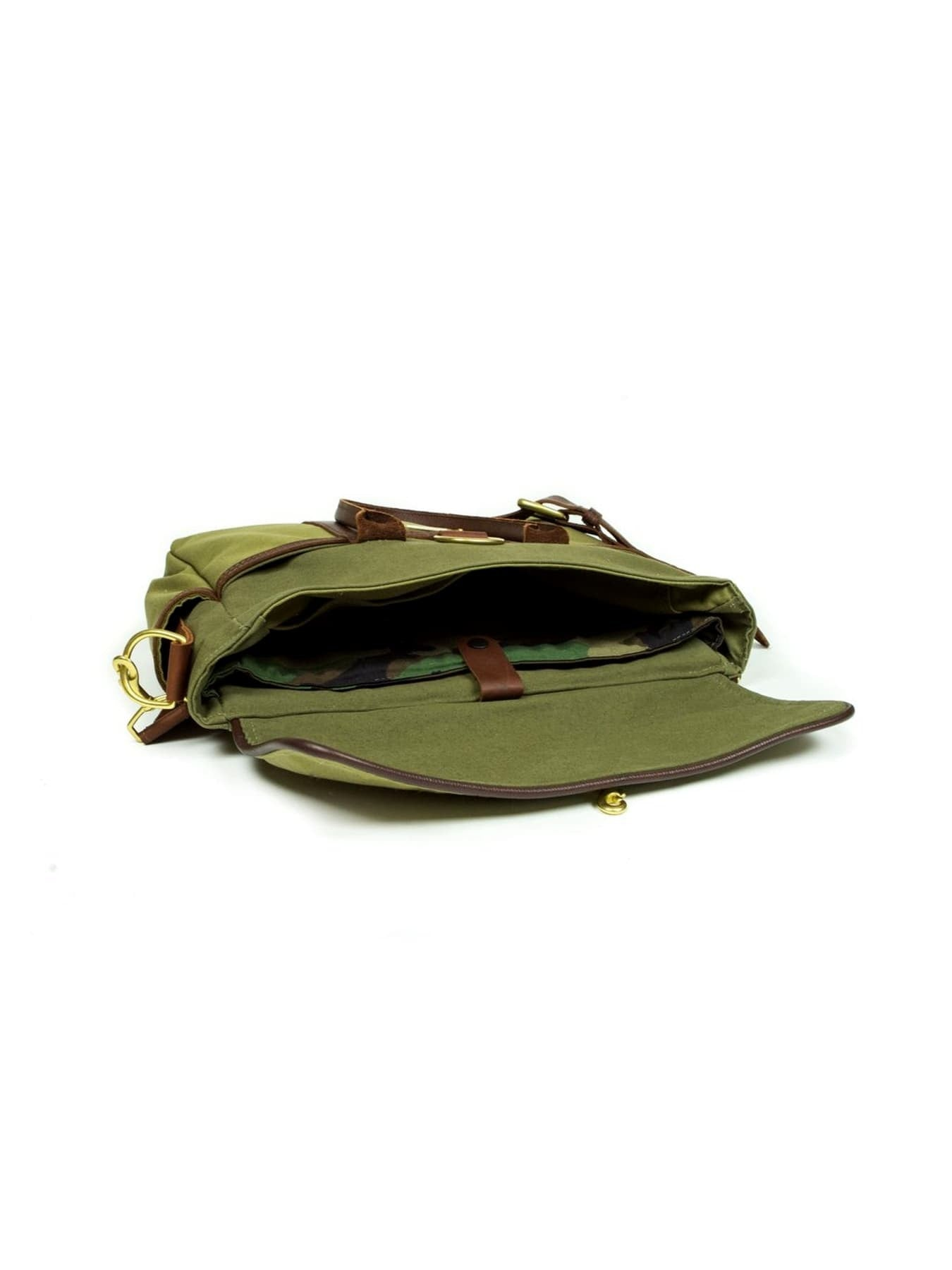 Green Canvas Messenger Bag
