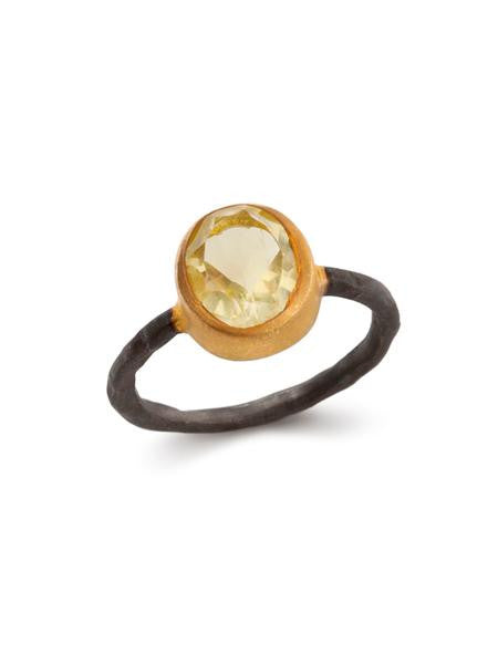 Yellow Lemon Quartz Egypt Ring