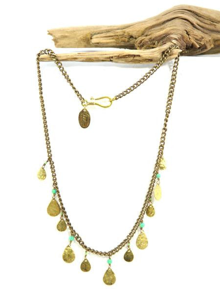 Ahava Brass & Opal Necklace