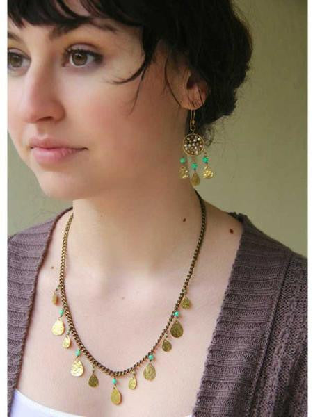 Ahava Necklace and Akasha Earrings Set
